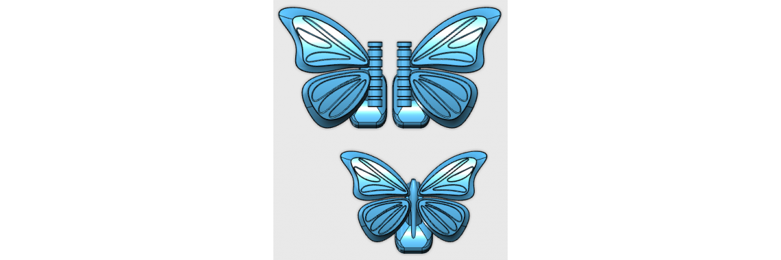 Butterfly Cufflinks Drawing