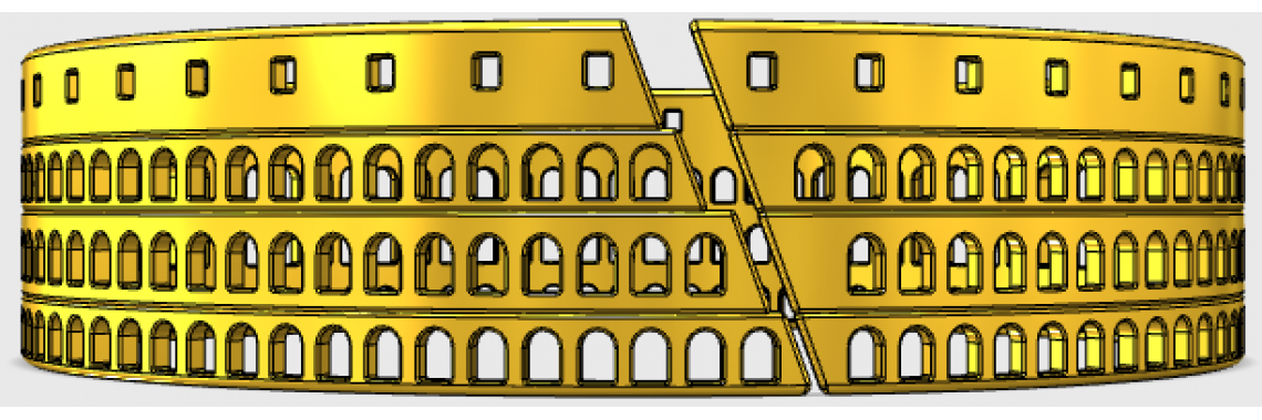 Colosseum Bracelet Drawing