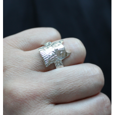 Owl Ring (Bigger) - Abstract Wings
