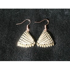 Geometric Earrings with Beads