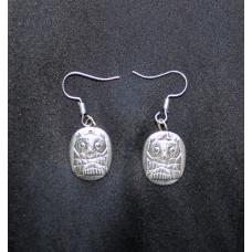 Owl Earrings or Pendant